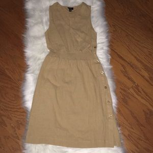 Mossimo khaki linen dress XS NWOT